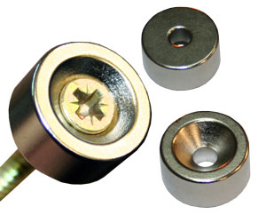 Counter-sunk Magnets